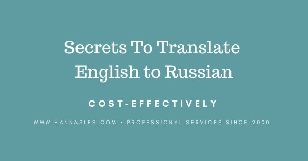 translate english to russian and save costs