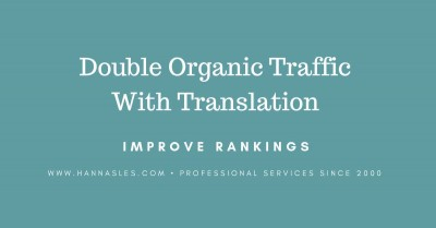 double organic traffic with my translation