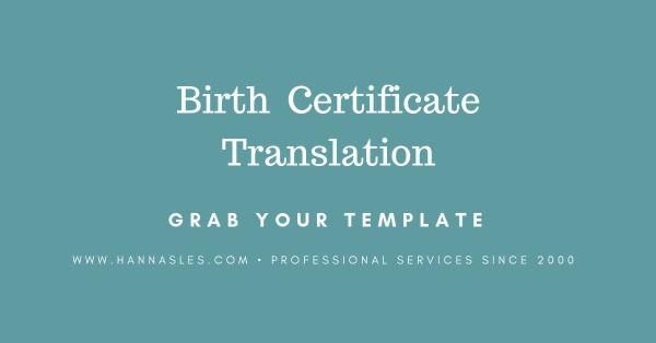 Russian certificate translation