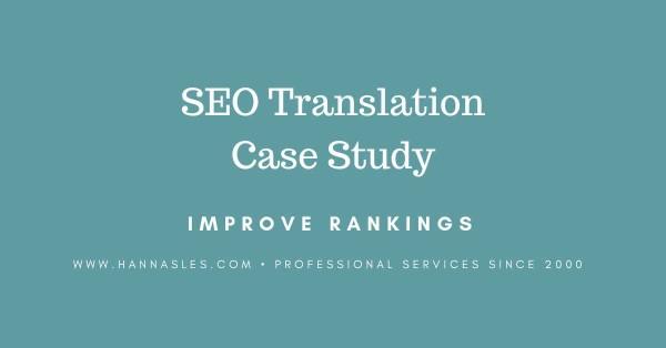 SEO translation case study