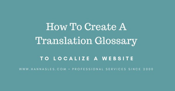 translation glossary